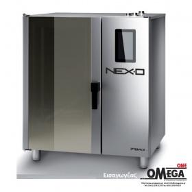 Φούρνος Μαγειρικής -10 GN 2/1 Αερίου Κυκλοθερμικός με Boiler Πάνελ Αφής Αυτόματη Πλύση NEXO NBG-210-HS
