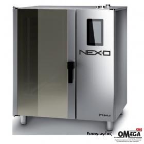 Ζαχαροπλαστικής -9 λαμαρίνες 600x400 mm Κυκλοθερμικός Αερίου Combi Direct Steam Πάνελ Αφής NEXO NDG-609-HS
