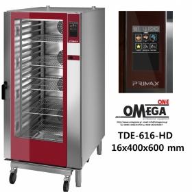 Φούρνος Ζαχαροπλαστικής -16 λαμαρίνες 400x600 mm Κυκλοθερμικός Ηλεκτρικός Combi Direct Steam Πάνελ Αφής Αυτόματη Πλύση PLUS TDΕ-616-HD