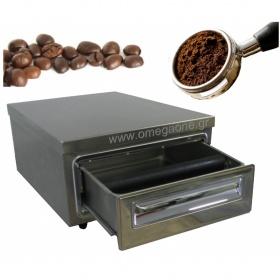 Μονό Συρτάρι Καφέ με Μπαστούνι