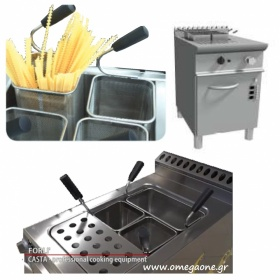 Single Tank Electric Pasta cooker with automatic 4 basket lifts