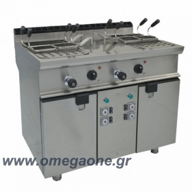 Double Tank Electric Pasta cooker with automatic 4 basket lifts