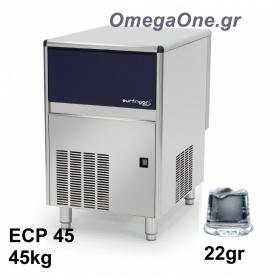 Παγομηχανή Ψεκασμού 45kg/24ωρο Αποθήκη 13kg Συμπαγές παγάκι  22 gr