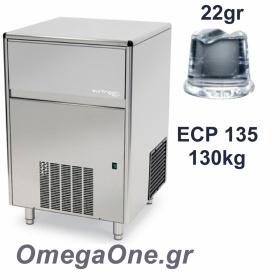 Παγομηχανή Ψεκασμού 130kg/24ωρο Αποθήκη 65kg Συμπαγές παγάκι  22 gr