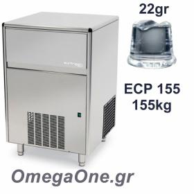 Παγομηχανή Ψεκασμού 155kg/24ωρο Αποθήκη 65kg Συμπαγές παγάκι  33 gr