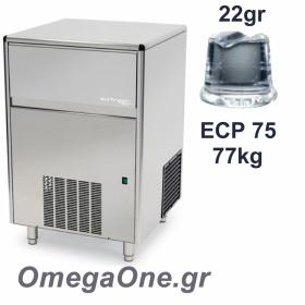Παγομηχανή Ψεκασμού 77kg/24ωρο Αποθήκη 30kg Συμπαγές παγάκι  22 gr