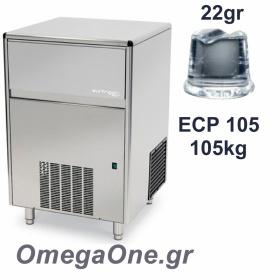 Παγομηχανή Ψεκασμού 105kg/24ωρο Αποθήκη 45kg Συμπαγές παγάκι  22 gr