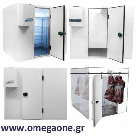 Ψυγεία Λυόμενα Πάνελ με Πάτωμα ΜΟΝΩΣΗ 80mm. Διαστ. (ΜxΒ) από 1200x1200mm έως 1200x3000 mm