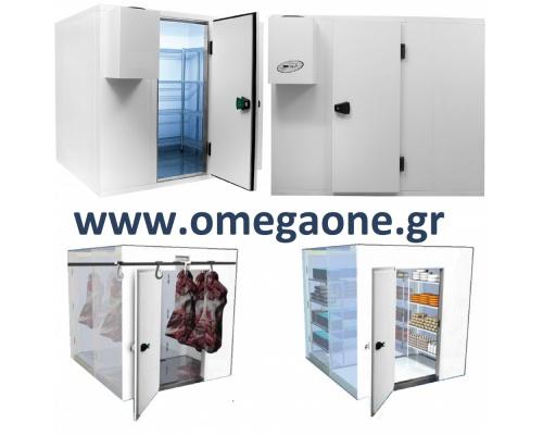 Ψυγεία Λυόμενα Πάνελ με Πάτωμα ΜΟΝΩΣΗ 120mm. Διαστ. (ΜxΒ) από 3000x1200mm έως 3000x3000 mm