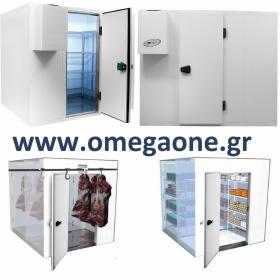Ψυγεία Λυόμενα Πάνελ με Πάτωμα ΜΟΝΩΣΗ 120mm. Διαστ. (ΜxΒ) από 2700x1200mm έως 2700x3000 mm