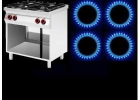 Κουζίνες ΑΕΡΙΟΥ 4 ΕΣΤΙΩΝ -Ενσωματωμένες σε Ουδέτερα Ερμάρια