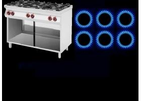 Κουζίνες ΑΕΡΙΟΥ 6 ΕΣΤΙΩΝ -Ενσωματωμένες σε Ουδέτερα Ερμάρια
