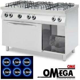 Κουζίνα 6 Εστιών Αερίου με Στατικό Φούρνο Αερίου GN 1/1 -ProChef