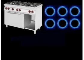 6 ΕΣΤΙΩΝ - Επιδαπέδιες Κουζίνες ΑΕΡΙΟΥ με Φούρνο ΡΕΥΜΑΤΟΣ Κυκλοθερμικό