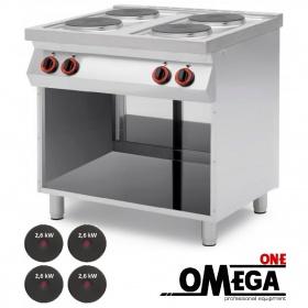 Ηλεκτρική Κουζίνα 4 Εστιών με Ανοιχτό Ντουλάπι