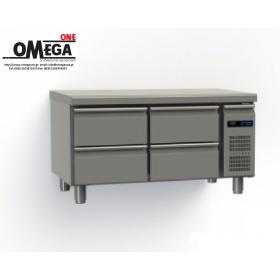 Συντήρηση Ψυγείο Πάγκος με 4 Συρτάρια Χωρίς Μοτέρ διαστ. 1145x700x640 mm Σειρά 70