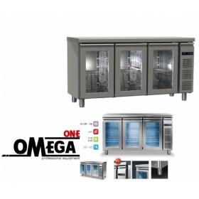 Συντήρηση Ψυγεία Πάγκοι με 3 Γυάλινες Πόρτες Χωρίς Μηχανή  Σειρά 60 & 70
