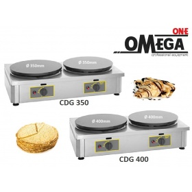 Roller Grill CDG 350mm and 400mm Double Gas Crepe Maker