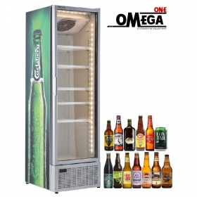 448 Lt Single Door Upright Bottle Beer Cooler