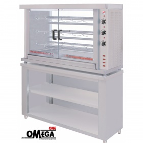 3 Spit Electric Chicken Rotisserie Oven with Base