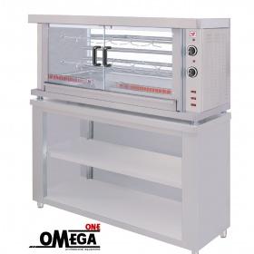 ΗΚ2S 2 Spit Electric Chicken Rotisserie Oven with Base