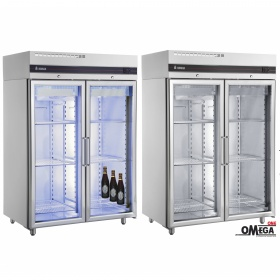 Double Glass Door Upright Bottle Beer Cooler -2°C / +8°C Omega One