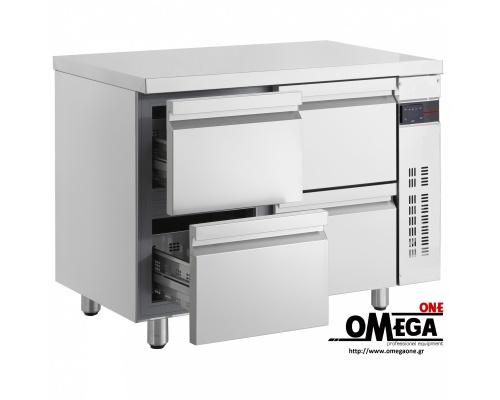 Συντήρηση Ψυγεία Πάγκοι με Συρτάρια & Πόρτες Χωρίς Μηχανή μήκος 1105mm