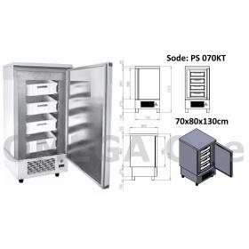 Ψαριέρα Θάλαμος 1 Πόρτα 4 Συρτάρια PVS 700x800x1300 mm