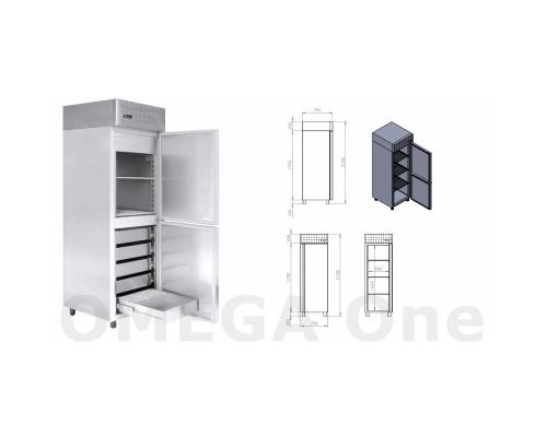 Ψυγείο Θάλαμος Ψαριών με 2 Πόρτες 5 Συρτάρια 700x780x206 mm
