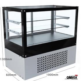 Ψυχόμενη Βιτρίνα δαπέδου διαστάσεων 1000×600×1300 mm