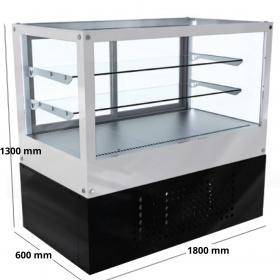 Θερμαινόμενη Βιτρίνα Επιδαπέδια Τυροπιτιέρα διαστάσεων 1800×600×1300 mm