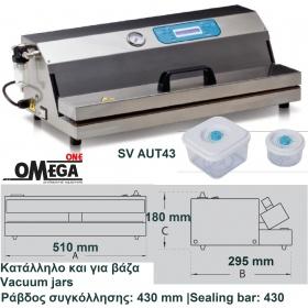 VACUUM Αυτόματο για σακούλες και δοχεία Μπάρα: 430 mm