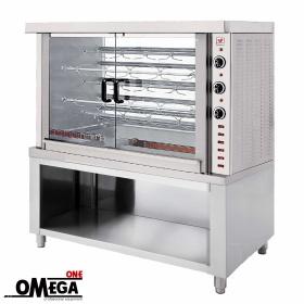 Ψησταριά Ηλεκτρική για 25 Κοτόπουλα | Omega One 5 Σουβλών Επιδαπέδια