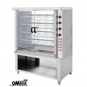Ψησταριά Ηλεκτρική για 45 Κοτόπουλα | Omega One 9 Σουβλών Επιδαπέδια