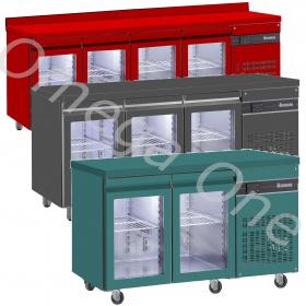 Ψυγεία Πάγκοι Συντήρηση Γυάλινες Πόρτες Έγχρωμα Σειρά 600